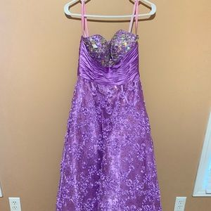 Lilac prom dress by pink by Alexia Designs
